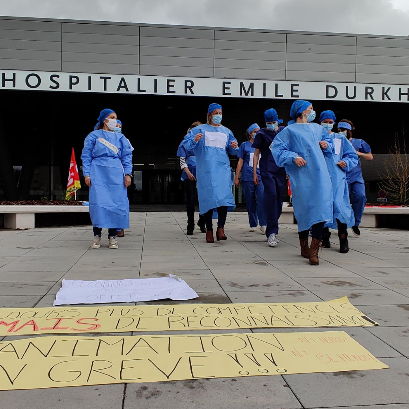 Epinal : épuisé, le personnel du service de réanimation se met en grève